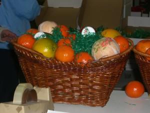 Putting together a fruit basket